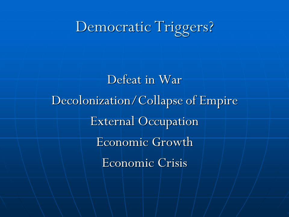 Democratic Triggers.