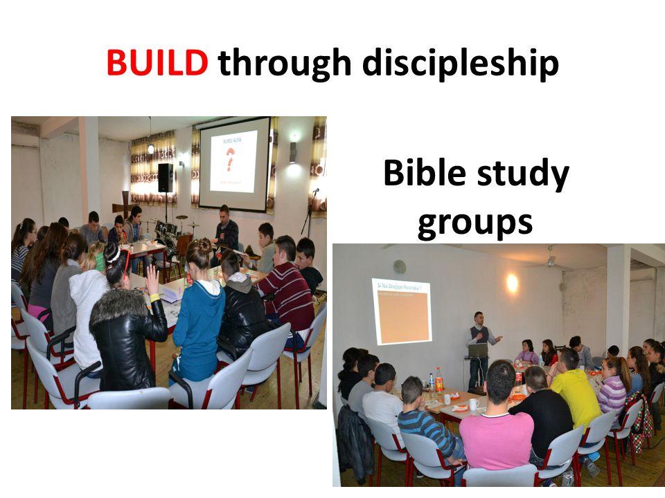 BUILD through discipleship Bible study groups