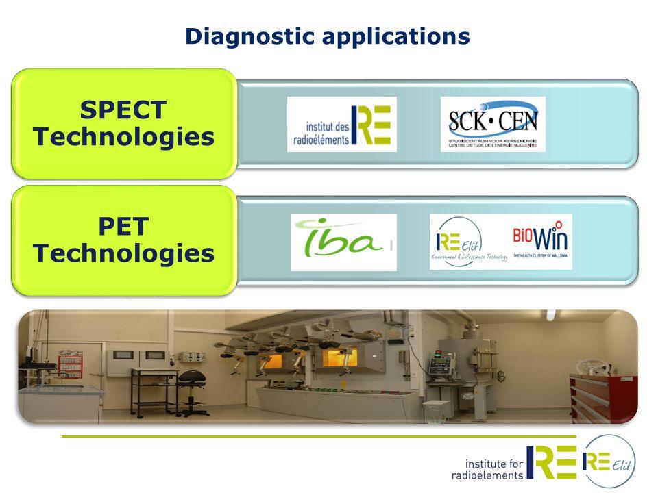 Diagnostic applications SPECT Technologies PET Technologies