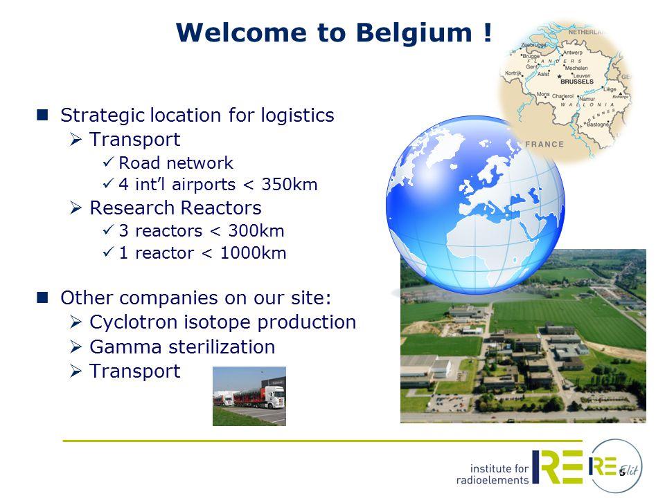 5 Welcome to Belgium .