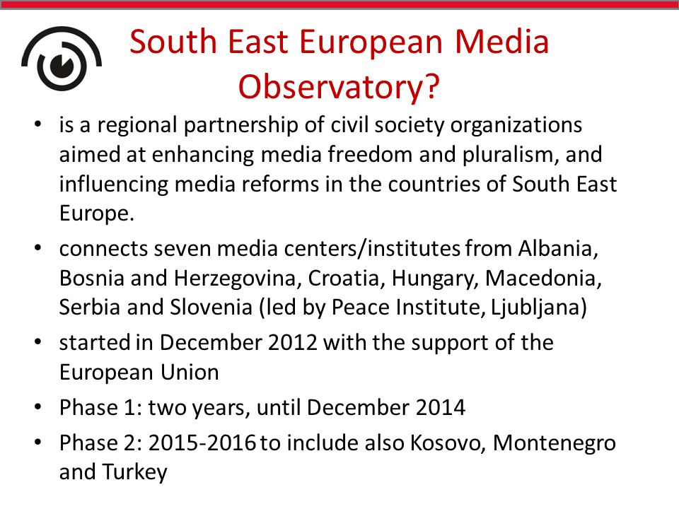 South East European Media Observatory.