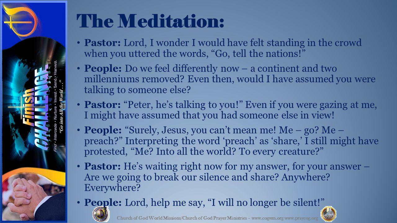 We pray ….