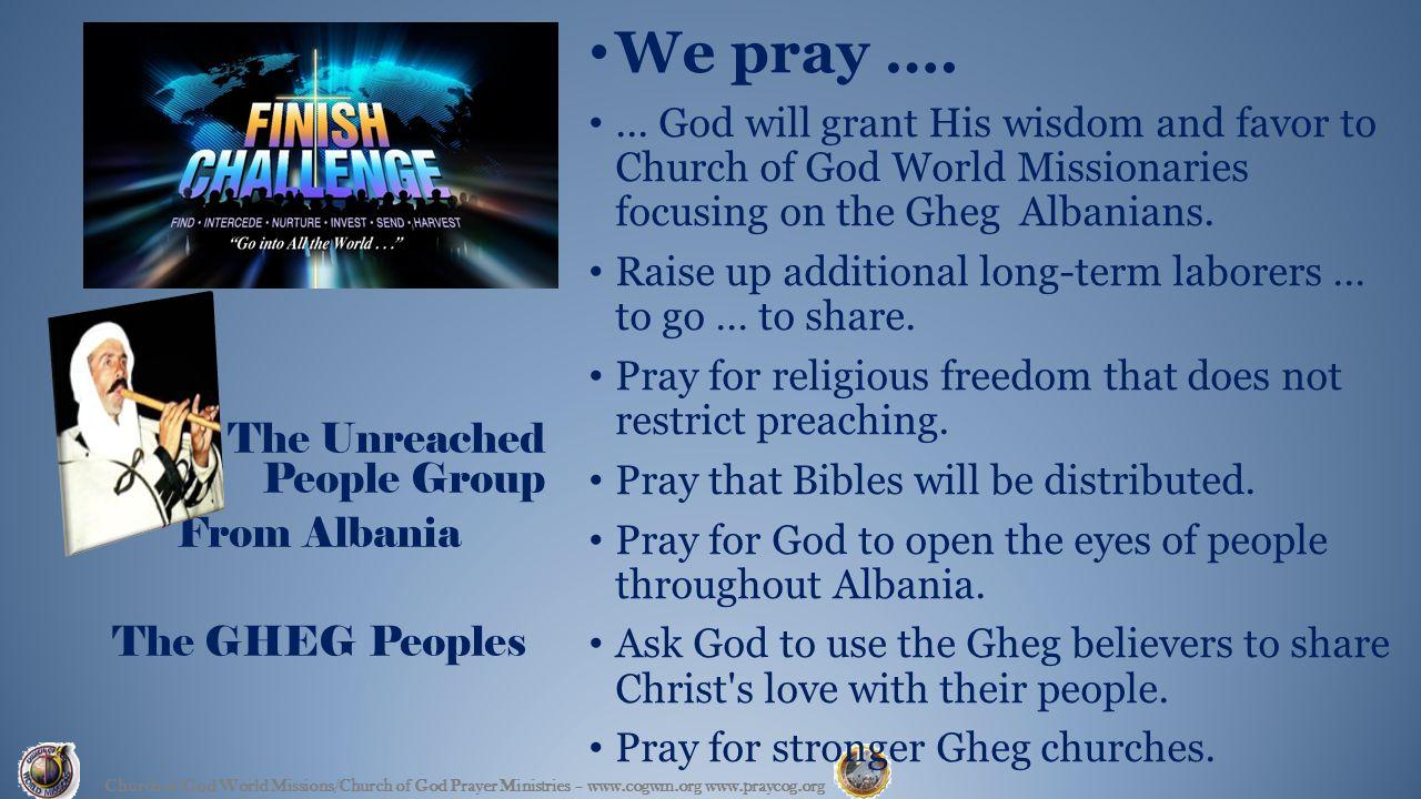 We pray …....