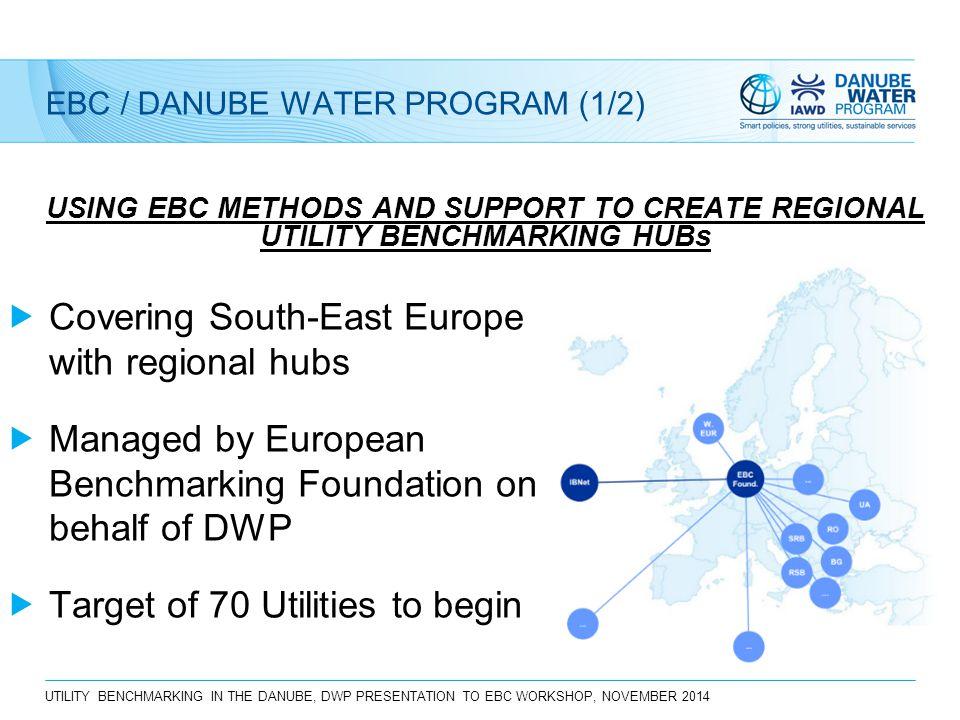 UTILITY BENCHMARKING IN THE DANUBE, DWP PRESENTATION TO EBC WORKSHOP, NOVEMBER 2014 EBC / DANUBE WATER PROGRAM (1/2) USING EBC METHODS AND SUPPORT TO