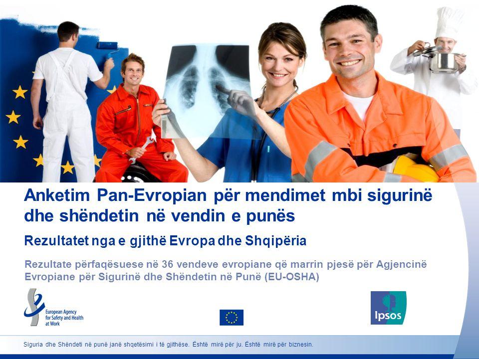 2 http://osha.europa.eu Click to add text here Kompozimi i anketimit Note: insert graphs, tables, images here Për të gjithë:Popullata e moshës 18+ me vendbanim të përhershëm dhe në gjuhën përkatëse Shembull:Shembuj përfaqësues në secilin prej 36 shteteve evropiane pjesëmarrëse Metoda e grumbullimit të të dhënave: CATI (Intervista me Telefon të Ndihmuara nga Kompjuteri) në 31 vende.