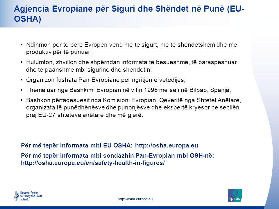 36 http://osha.europa.eu Agjencia Evropiane për Siguri dhe Shëndet në Punë (EU- OSHA) Ndihmon për të bërë Evropën vend më të sigurt, më të shëndetshëm