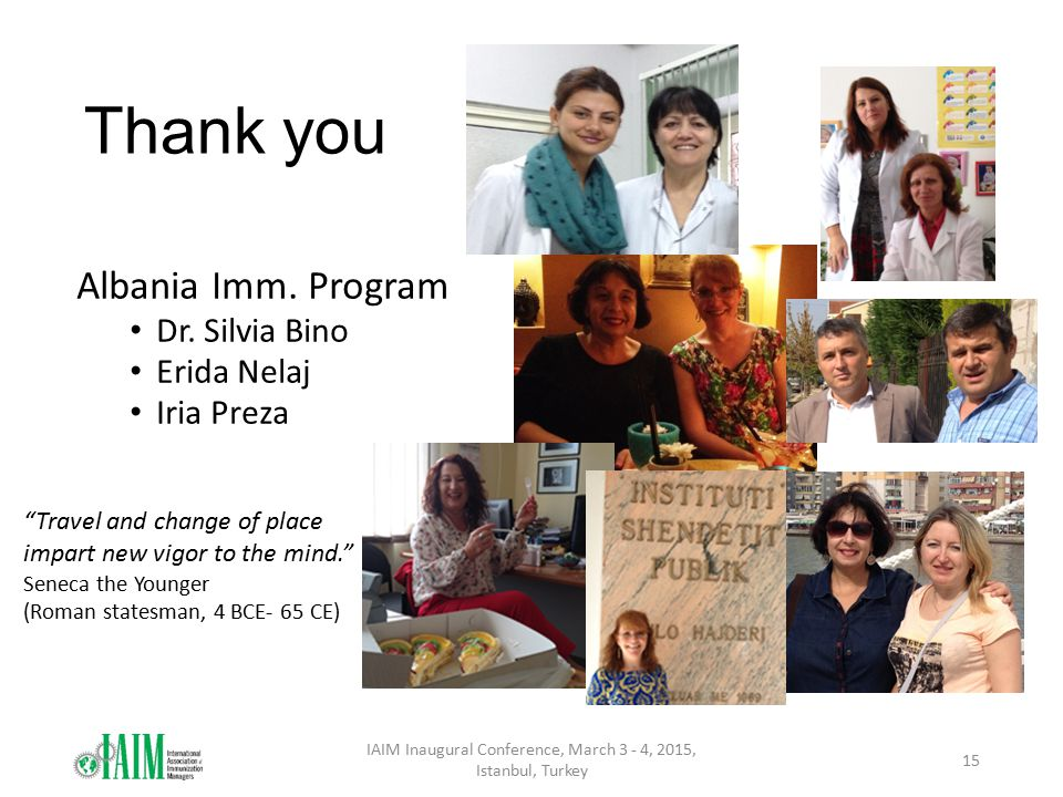 Thank you Albania Imm.Program Dr.