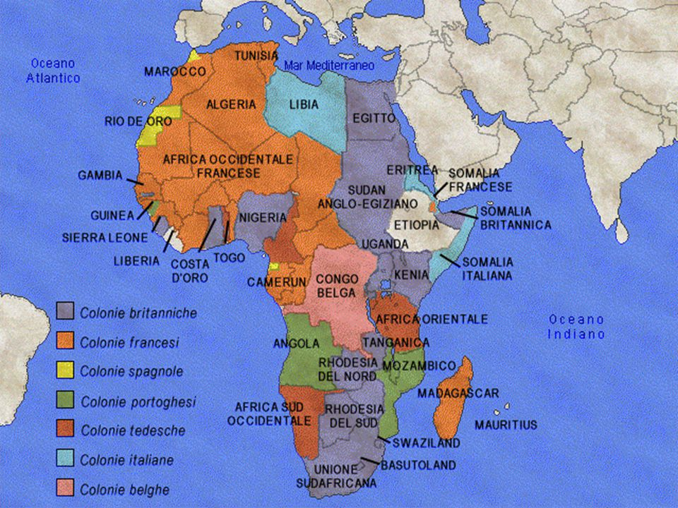 Africa Whole Africa turned into German, Italian, Spanish and Portugues sphere of influence, except independent Egypt and South Africa Whole Africa turned into German, Italian, Spanish and Portugues sphere of influence, except independent Egypt and South Africa Total removal of Belgium Total removal of Belgium Nearly total removal of Britain and France Nearly total removal of Britain and France Small African territory to be set aside for Jews of Europe Small African territory to be set aside for Jews of Europe Italy to gain Horn, Kenya, Uganda, Nigeria, Northern Chad, and Tunisia in order to secure access to Indian and Atlantic Ocean, as well as satisfy economic needs Italy to gain Horn, Kenya, Uganda, Nigeria, Northern Chad, and Tunisia in order to secure access to Indian and Atlantic Ocean, as well as satisfy economic needs