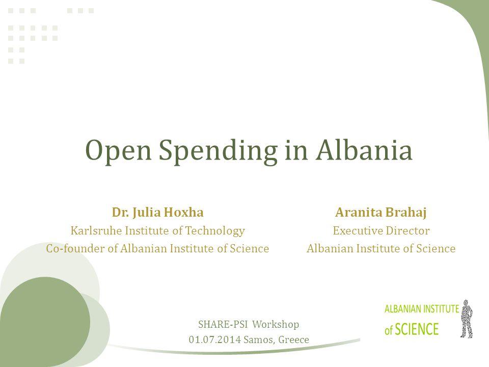 Open Spending in Albania Dr.