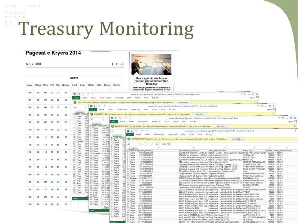 Treasury Monitoring