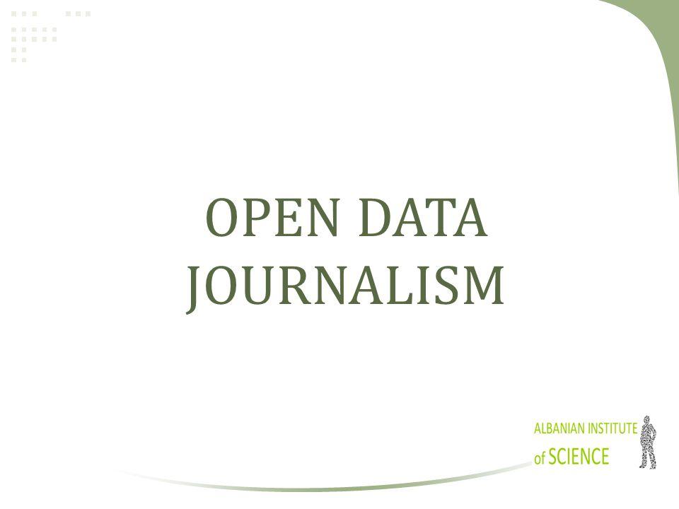 OPEN DATA JOURNALISM