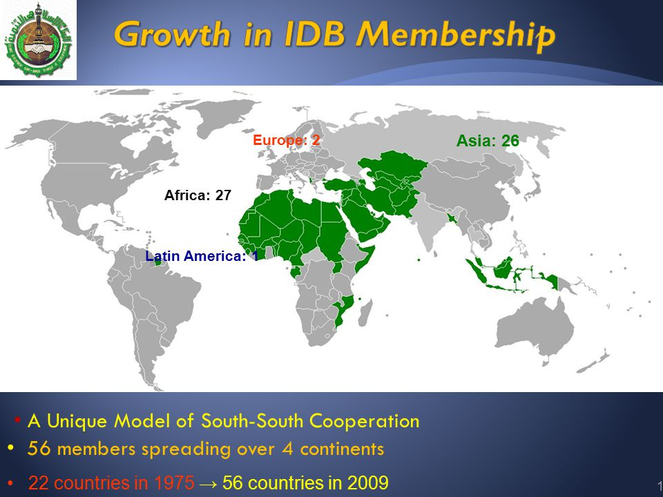 13 22 countries in 1975 → 56 countries in 2009 A Unique Model of South-South Cooperation Africa: 27 Asia: 26 Europe: 2 Latin America: 1 56 members spr