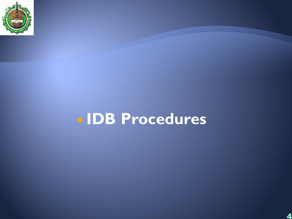 44  IDB Procedures