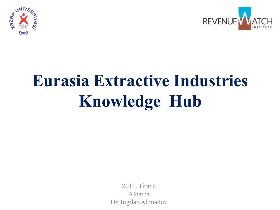 Eurasia Extractive Industries Knowledge Hub 2011, Tirana Albania Dr. Ingilab Ahmadov