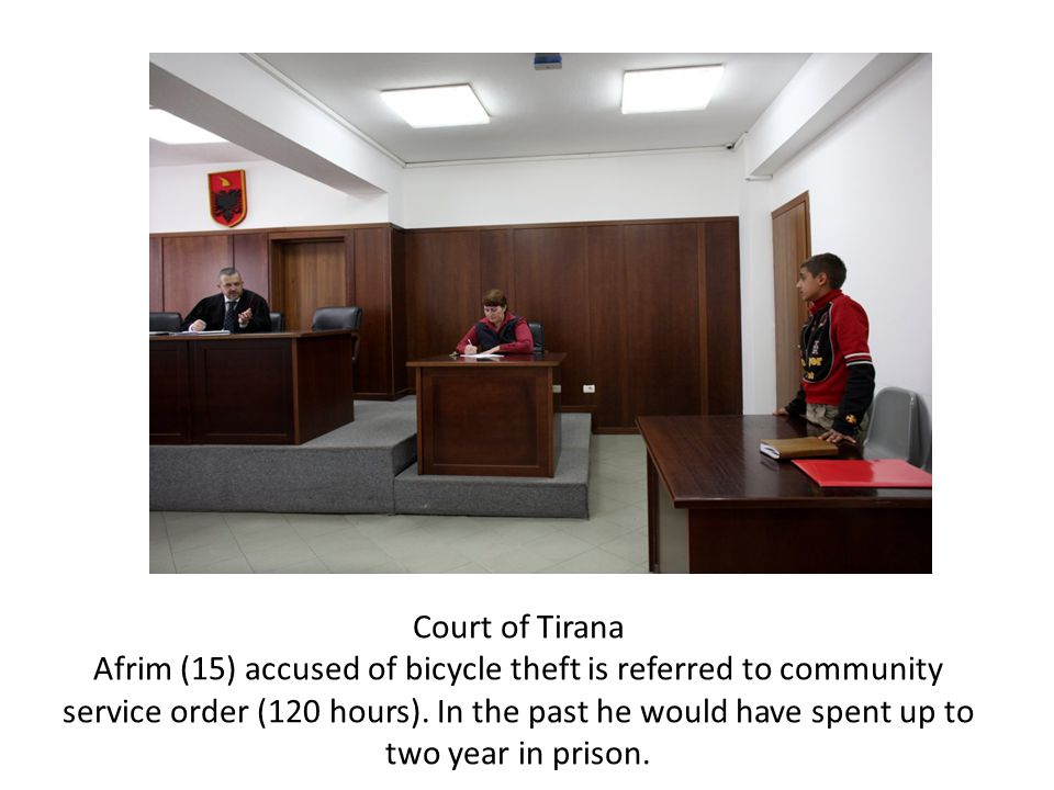 Court of Tirana Afrim (15) accused of bicycle theft is referred to community service order (120 hours).