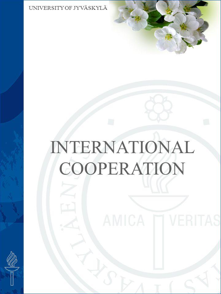 UNIVERSITY OF JYVÄSKYLÄ INTERNATIONAL COOPERATION