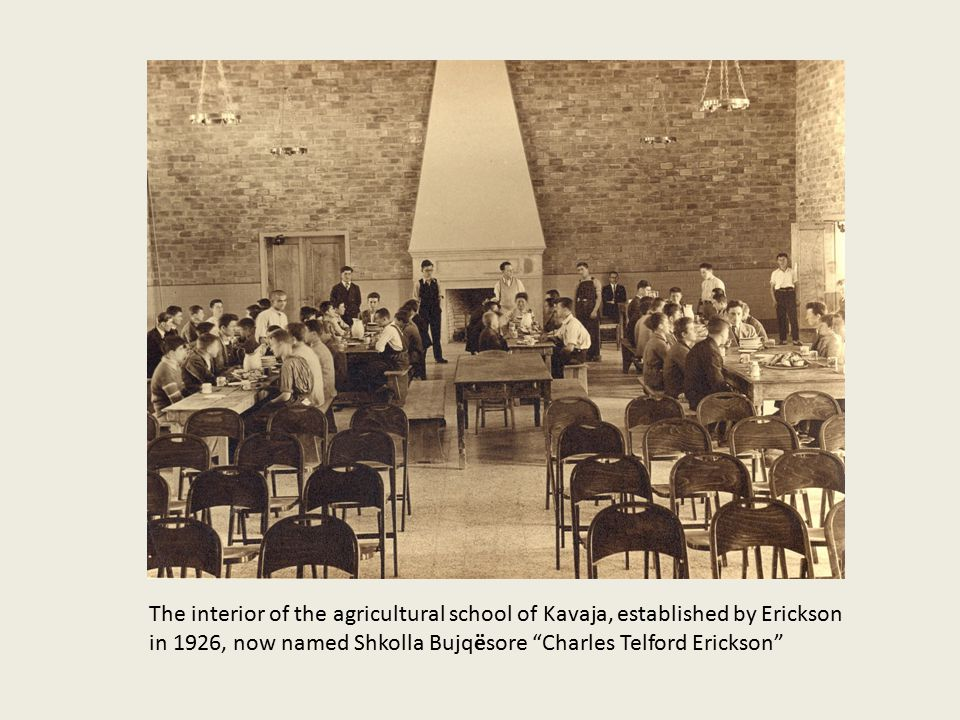 The interior of the agricultural school of Kavaja, established by Erickson in 1926, now named Shkolla Bujqësore Charles Telford Erickson