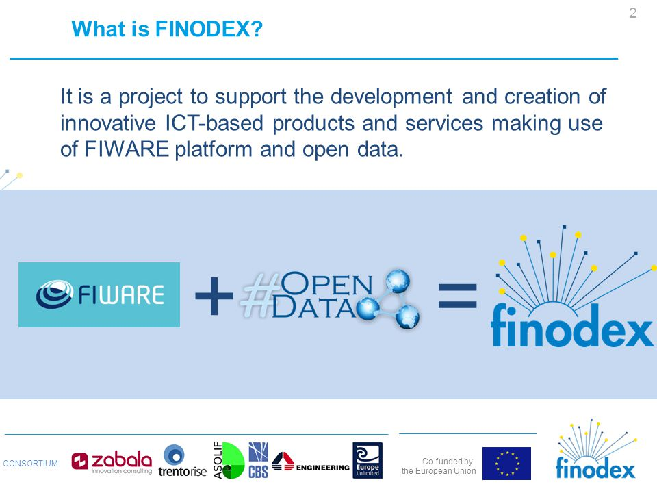 Co-funded by the European Union CONSORTIUM: What is FINODEX.