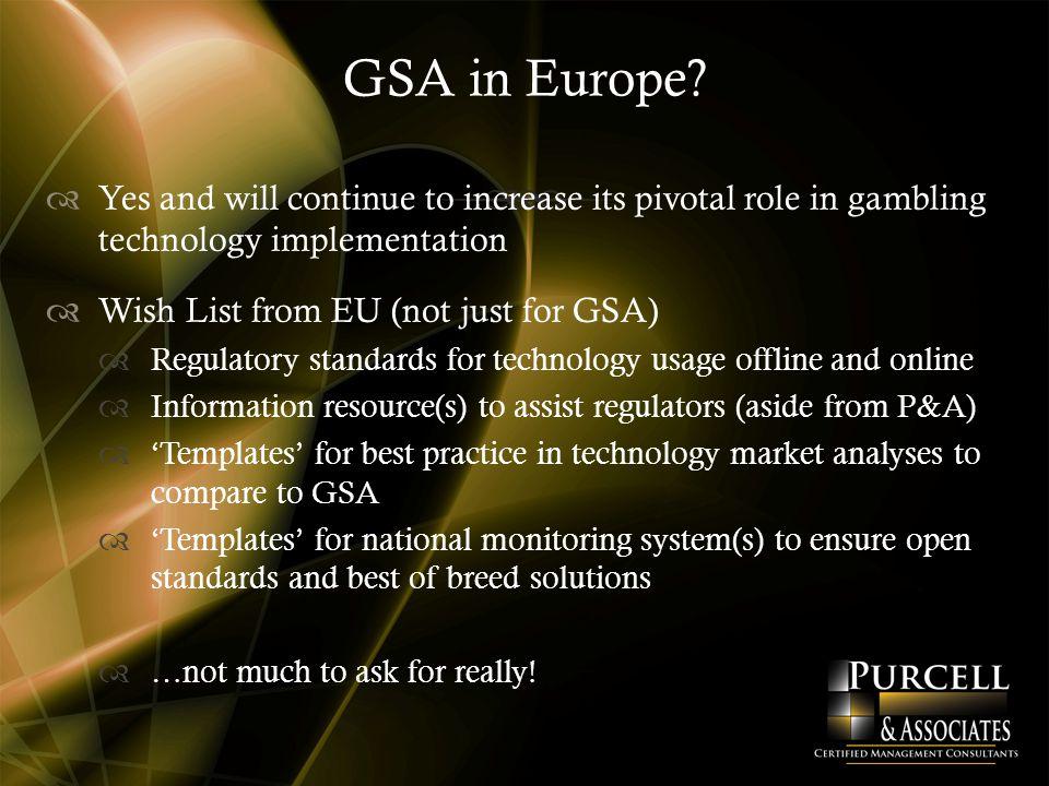 GSA in Europe.