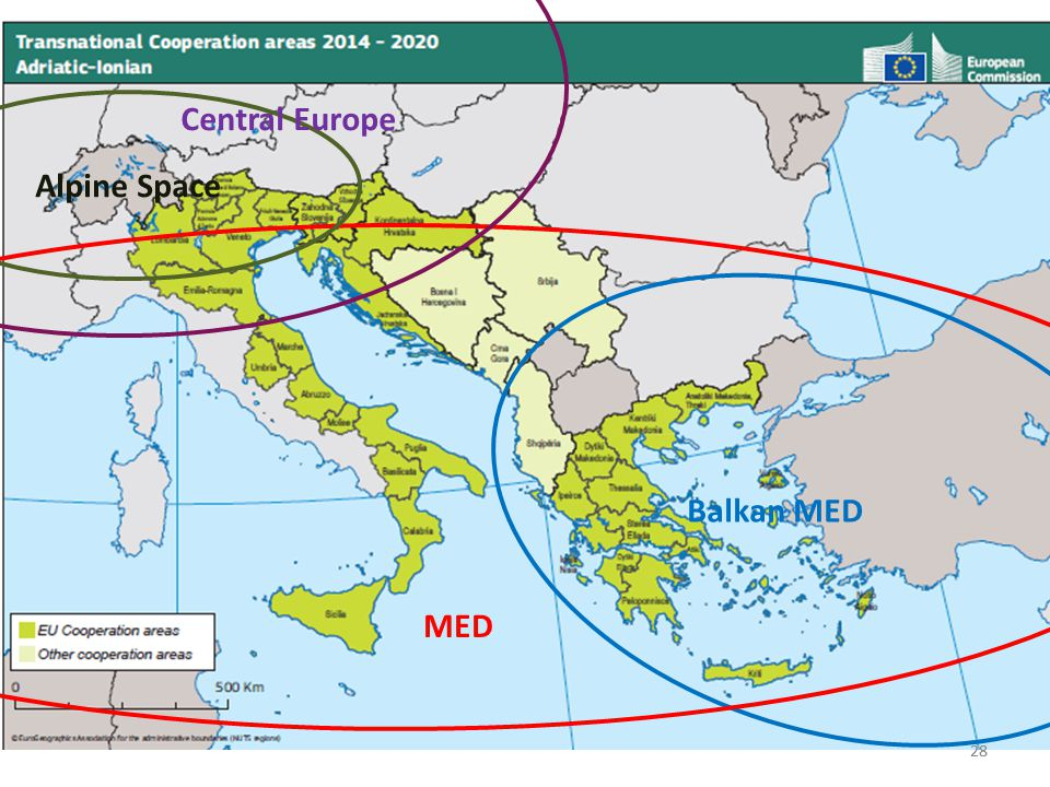 28 MED Alpine Space Central Europe Balkan MED