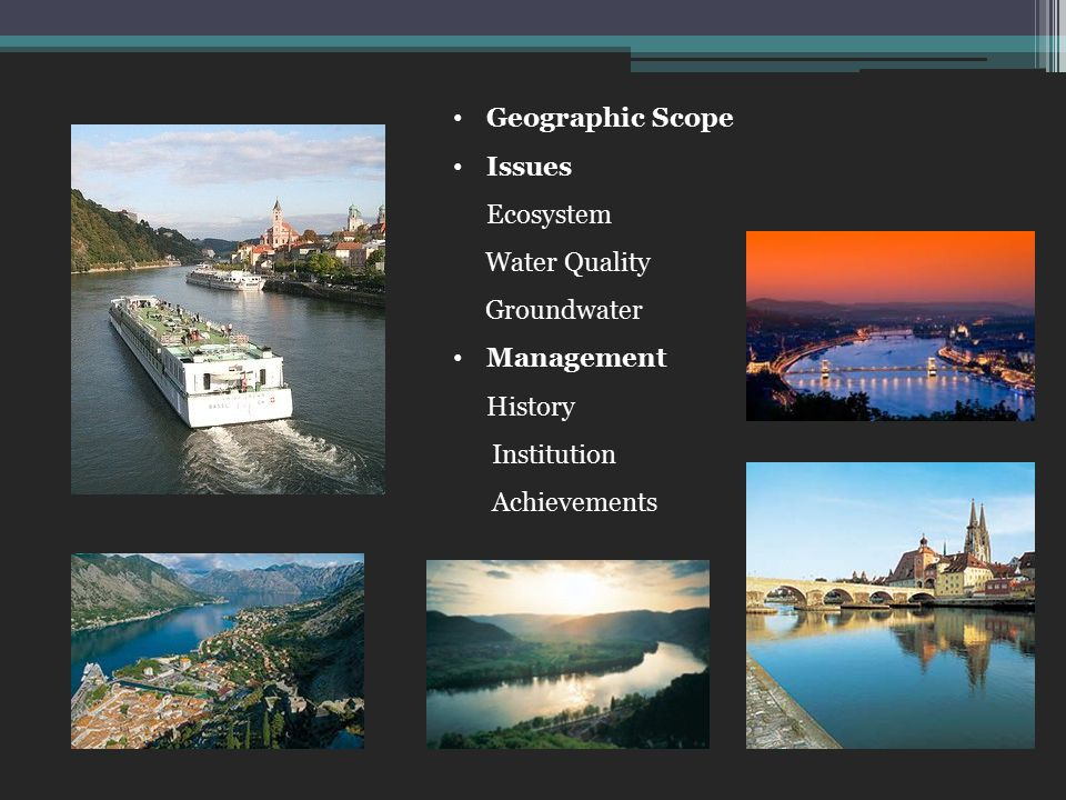 Geographic Scope Issues Ecosystem Water Quality Groundwater Management History Institution Achievements