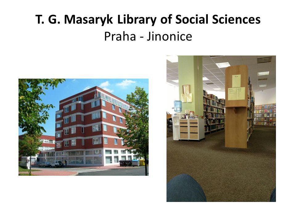 T. G. Masaryk Library of Social Sciences Praha - Jinonice