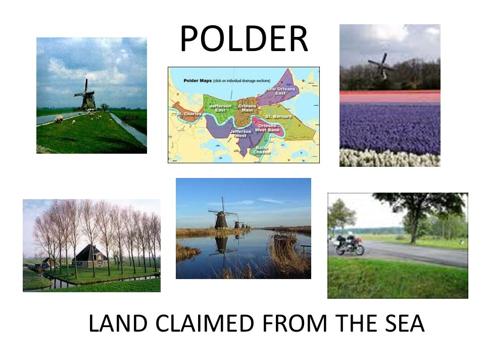 POLDER LAND CLAIMED FROM THE SEA