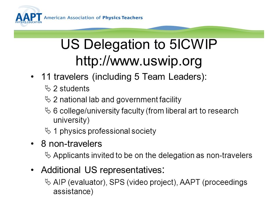 US Delegation