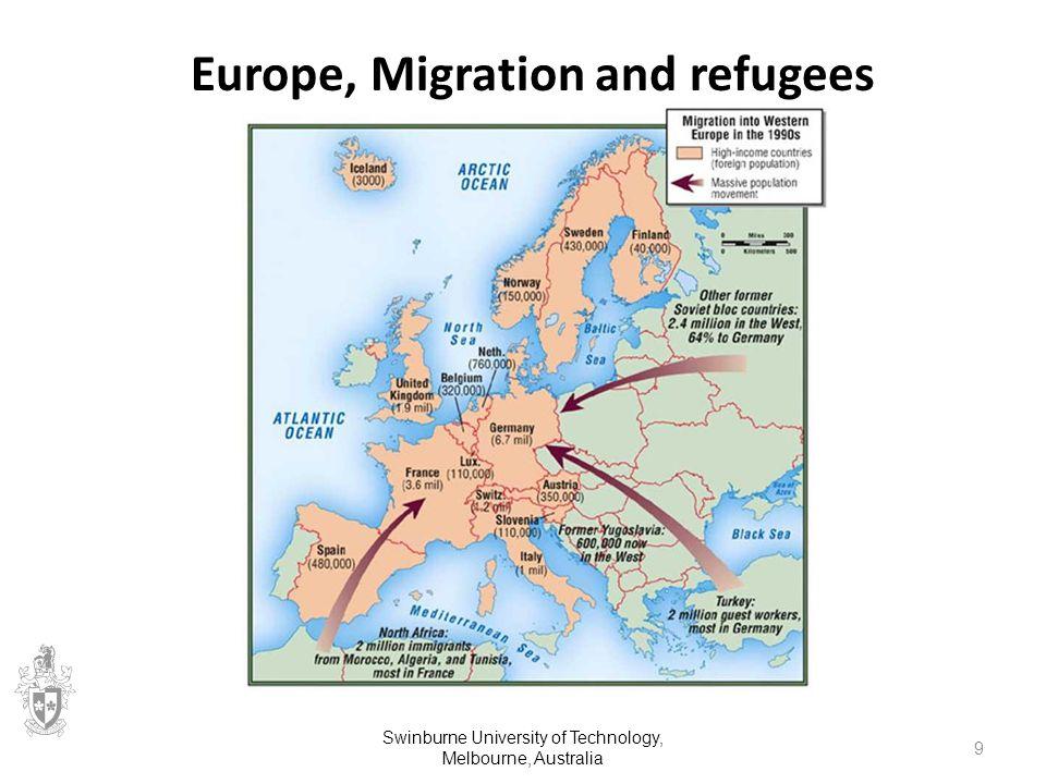 Europe, Migration and refugees Swinburne University of Technology, Melbourne, Australia 9