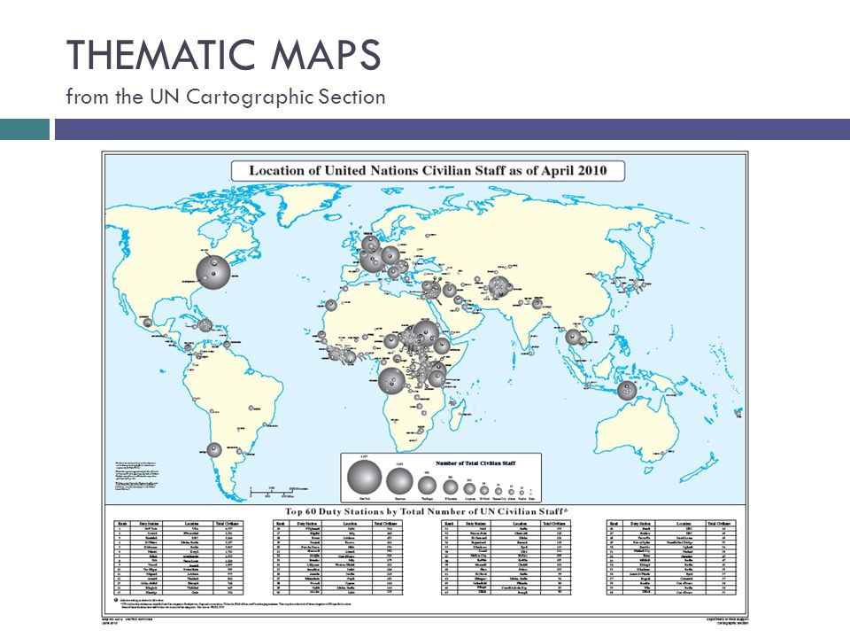 THEMATIC MAPS from the UN Cartographic Section