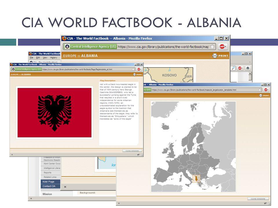 CIA WORLD FACTBOOK - ALBANIA