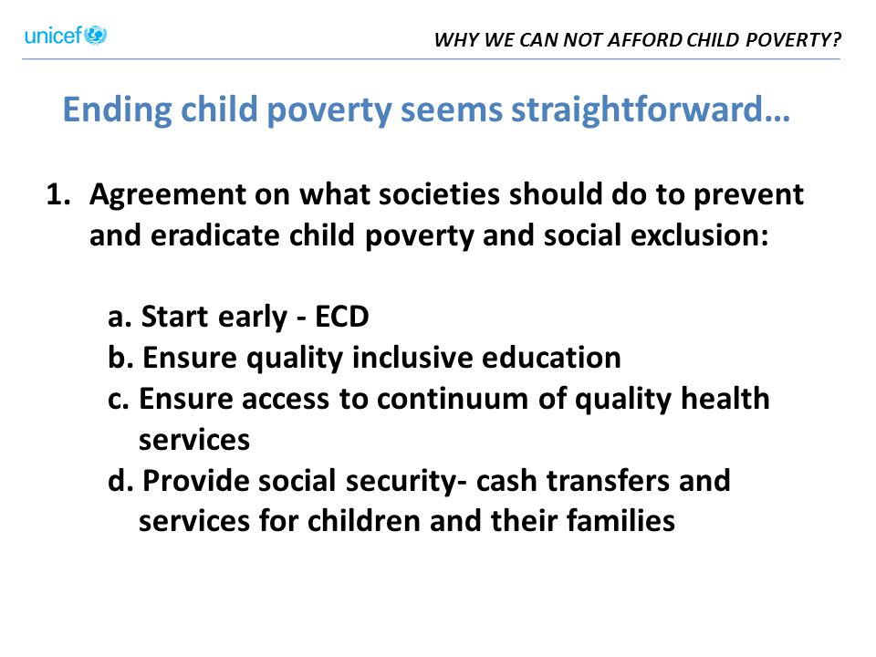 WHY WE CAN NOT AFFORD CHILD POVERTY.