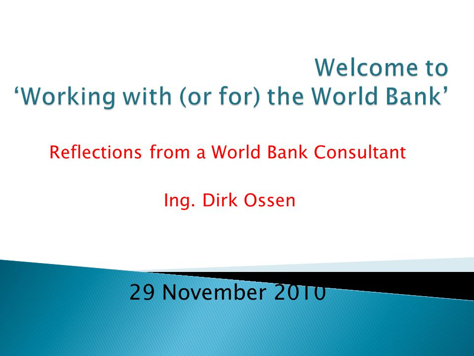 Working with the World Bank Wastewater treatment plant pumping station in Bosnia before…….