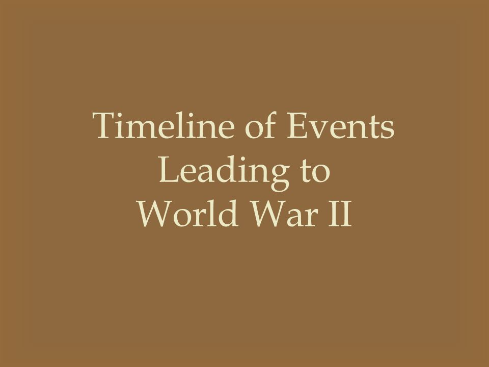 1919 The Treaty of Versailles Germany was punished for WWI Germany wasn't allowed to have war materials – tanks, heavy guns, military airplanes, or warships Germany was forced to give up colonies in Africa, islands in the pacific, and territory in Europe Germany was ordered to pay $33 billion to the Allies for war damages