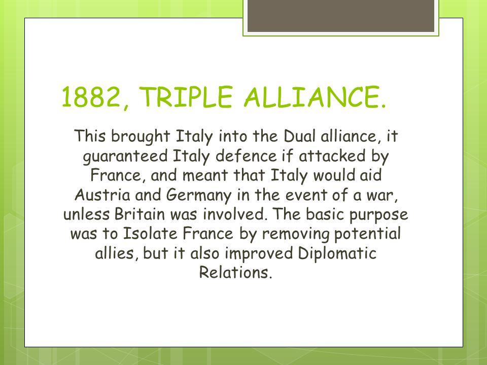 1882, TRIPLE ALLIANCE.