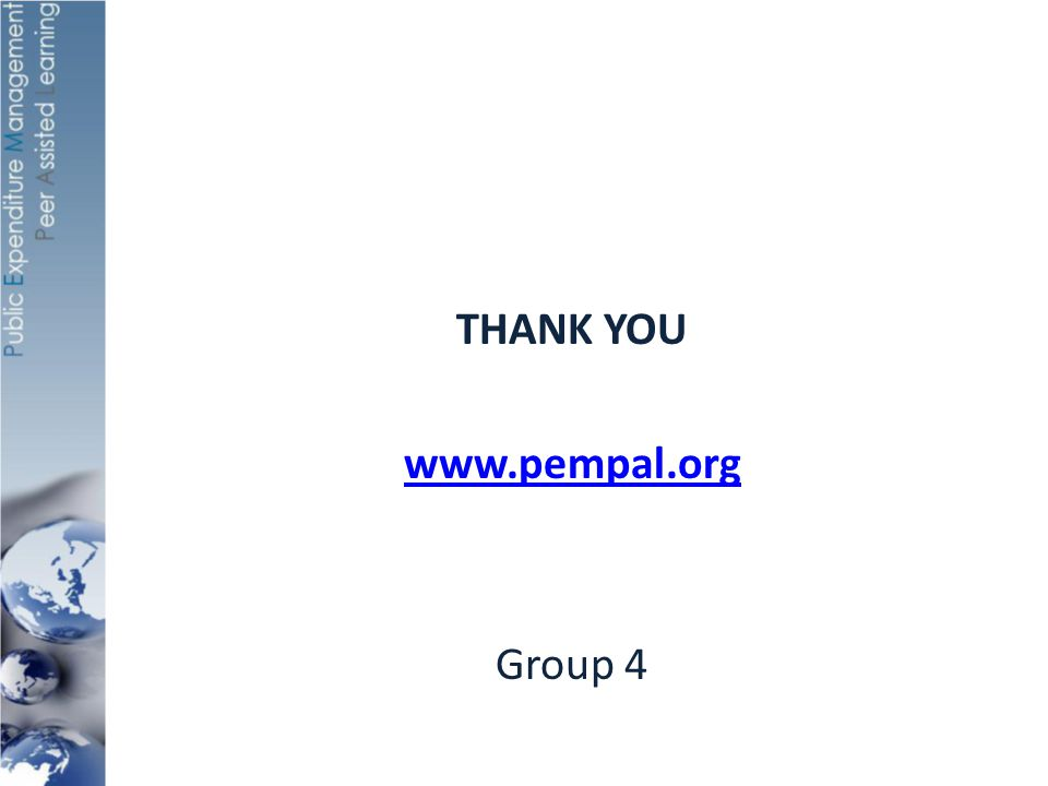 THANK YOU www.pempal.org Group 4
