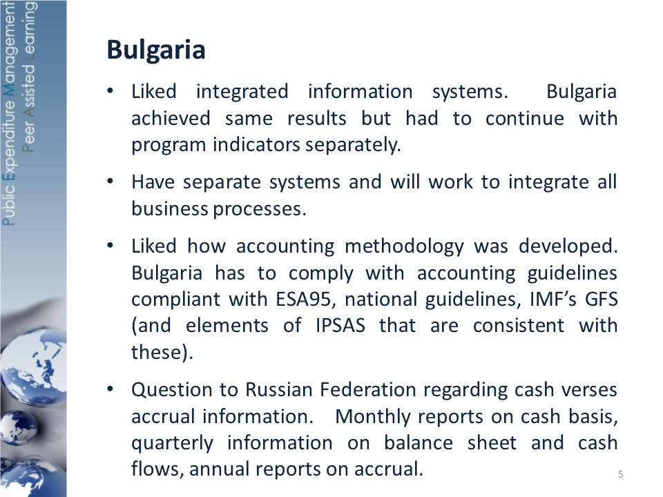 Bulgaria Liked integrated information systems.