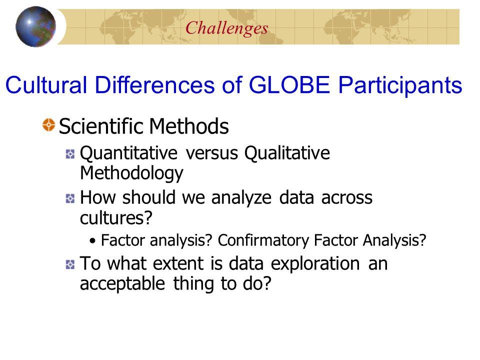 Scientific Methods Quantitative versus Qualitative Methodology How should we analyze data across cultures.