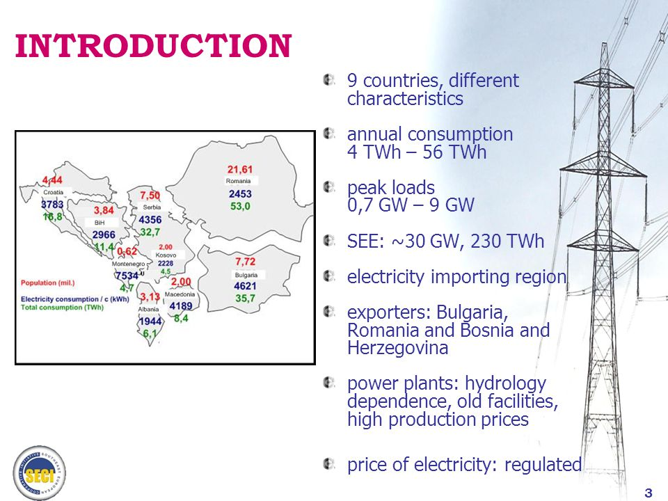 4 SEE TRANSMISSION SYSTEM 400 kV, 220 kV, 110 kV; generally well-meshed high interconnection capacities high network availability