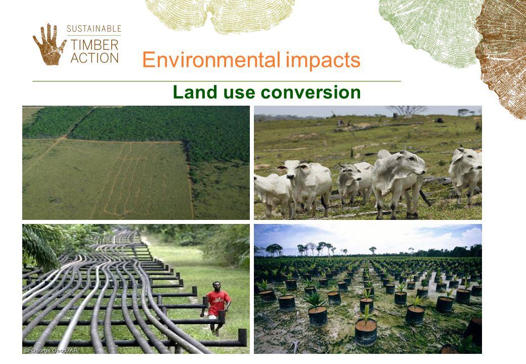 Land use conversion Environmental impacts