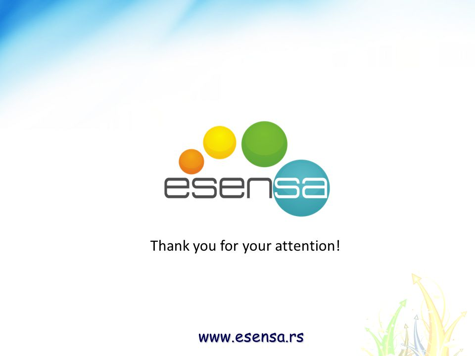 www.esensa.rs Thank you for your attention!