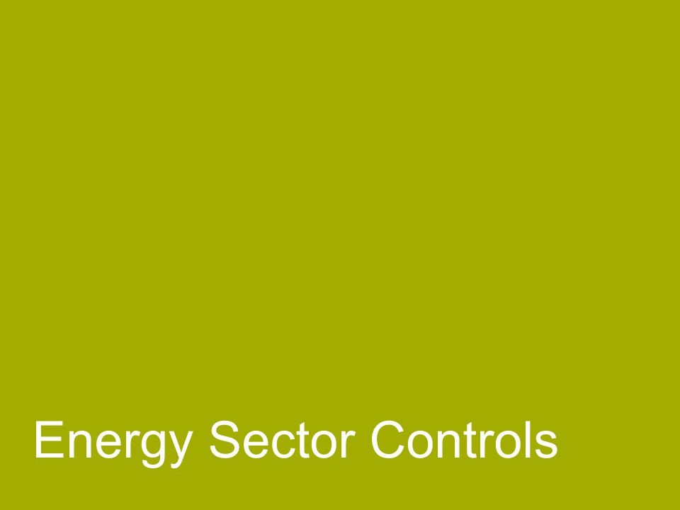 Energy Sector Controls