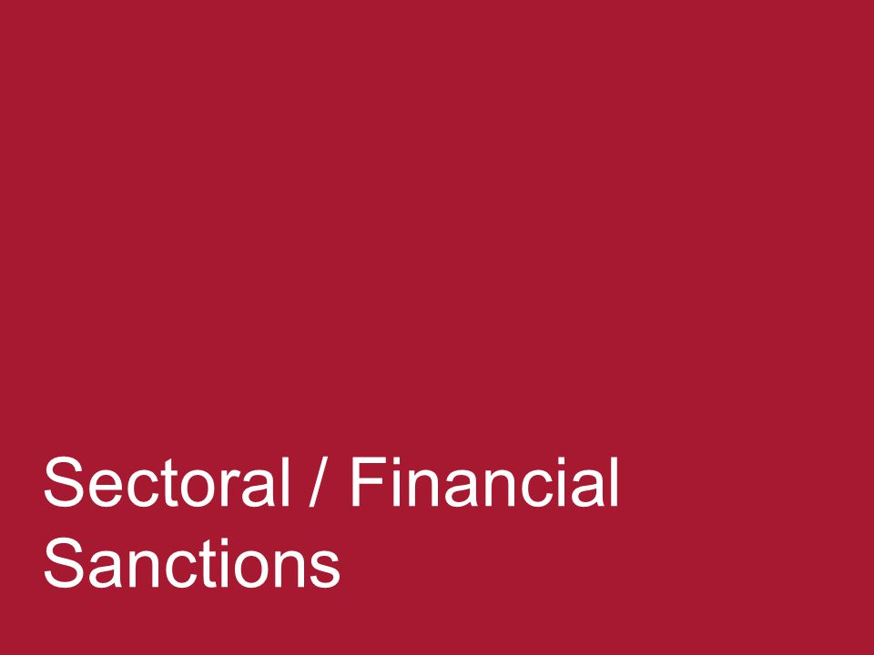 Sectoral / Financial Sanctions