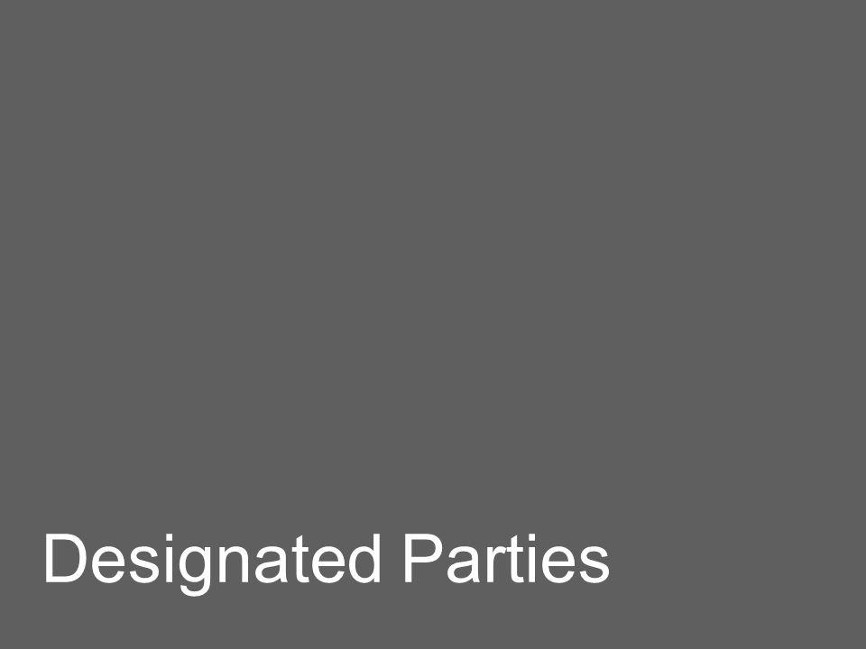 Designated Parties
