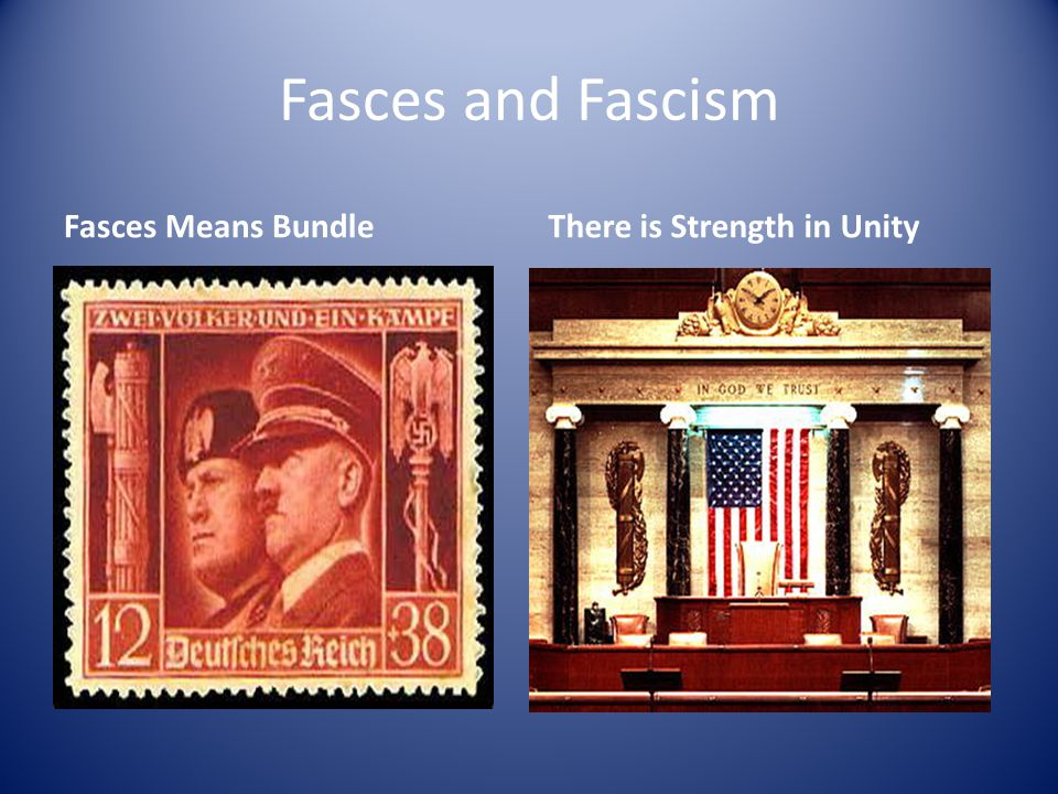 Fasces and Fascism Fasces Means BundleThere is Strength in Unity