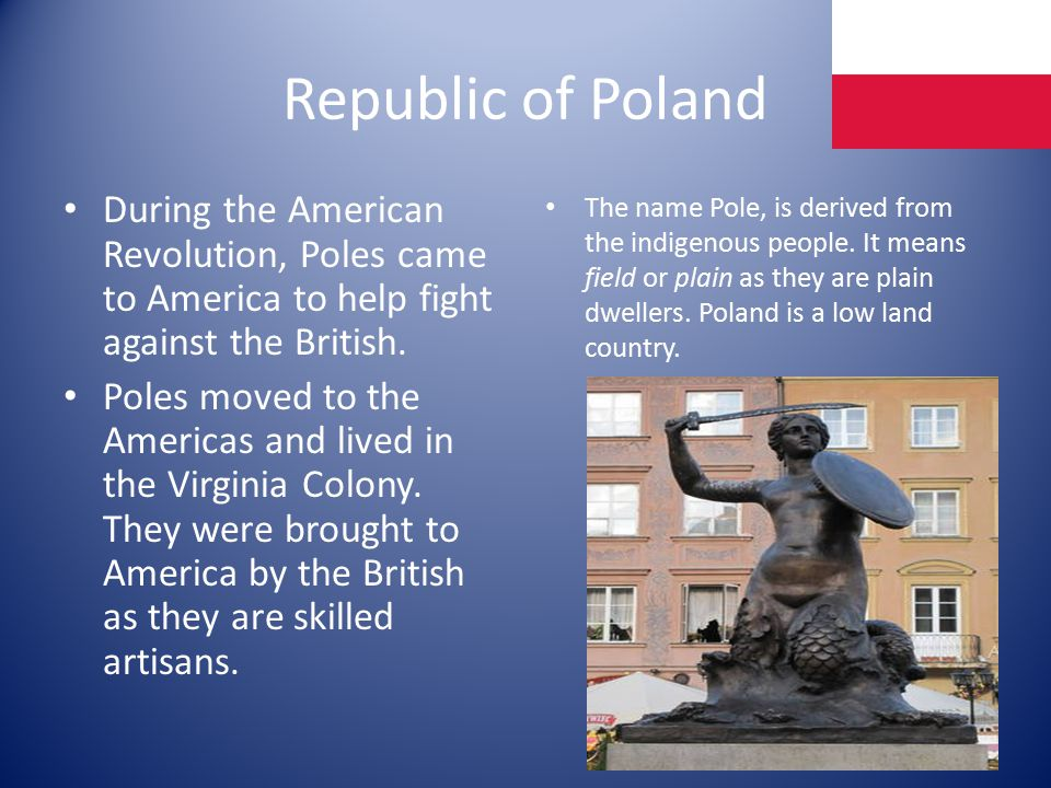 Republic of Poland During the American Revolution, Poles came to America to help fight against the British.