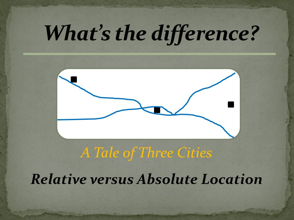 A Tale of Three Cities Relative versus Absolute Location