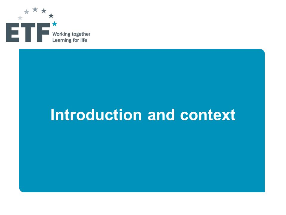 What is the ETF (European Training Foundation) .