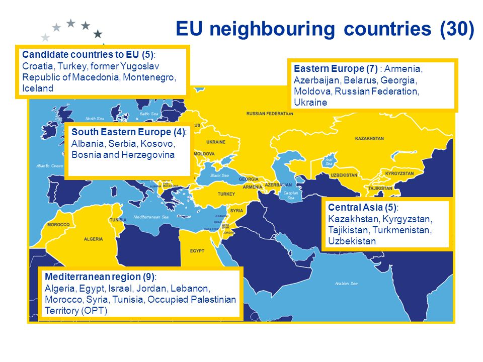 Context in EU neighbouring countries Great diversity but also large communalities between countries ECONOMY - Low- and Middle-Income Countries (LMIC's) and related resource constraints - Significant donor support in all sectors - Rapid economic growth in last decade in some but in others moderate growth and lack of FDI - Economic liberalisation + developing private sector - Growth of manufacturing industries + export...increases demand for skills, qualifications and mobility… SOCIO-POLITICAL - Difficult transition to democratic societies and market economies - Political turmoil and instability (Arab Spring, some war-affected countries not so long ago) - Enormous demographic pressure (in South) versus ageing population (East) - Huge and growing expectations from young population - Rural poverty - Migration - Colonial experiences left different traditions/models - Perspective of EU integration for some LABOUR MARKET - Large public sector - Large informal sector - High un- and underemployment - High value of white collar work / 'culture of shame' for manual work in some countries - Life-styles (survival strategies) with multiple employment status