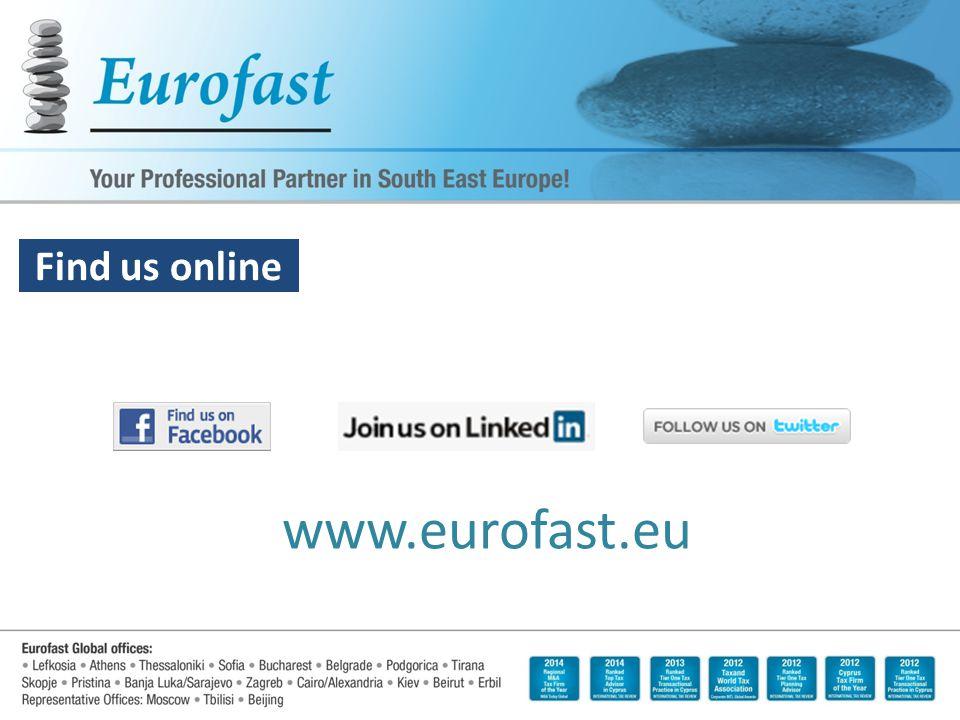Keeping you updated www.eurofast.eu Find us online
